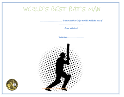 cricket certificate templates 10 professional player of the day