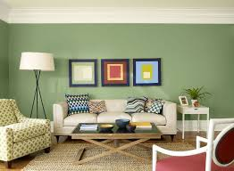 captivating wall paint colors for living room using green color
