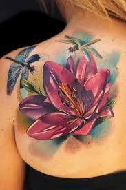 lotus dragonfly tattoo design of tattoosdesign of tattoos