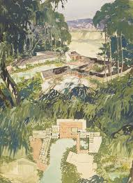 ranch home allure the dazzling watercolors of chris choate kcet