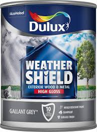 dulux weather shield exterior high gloss paint 750 ml gallant