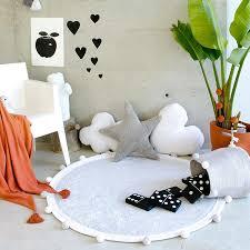 kinderzimmer teppich rund teppich washable baumwolle bubbly light grey canals 120 o