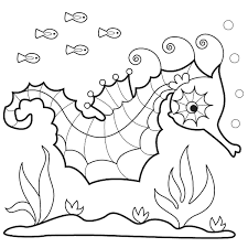 sea horse coloring web photo gallery seahorse coloring pages at