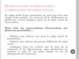 domiciliation si e social td grh licence 3 developpement social ppt télécharger