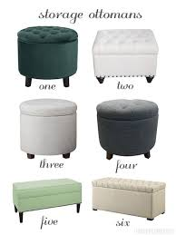 grey leather storage ottoman storage ideas