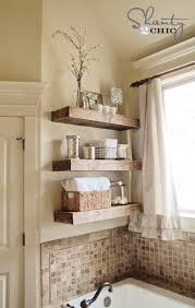 Best Bathroom Shelves Diy Floating Shelves Above Bathtub Organize Your Bath Stuff With