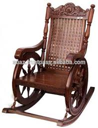 Luxury Chairs Wooden Rocking Chairs Carving Swing Chair Antique Wood Carved
