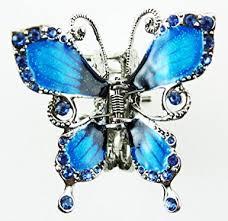 butterfly hair clip silver tone butterfly hair