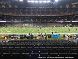 mercedes dome mercedes superdome section 142 seat views seatgeek
