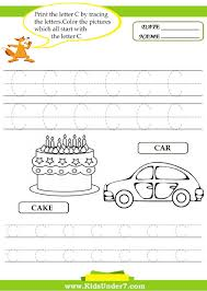kids under 7 alphabet worksheets trace and print letter с