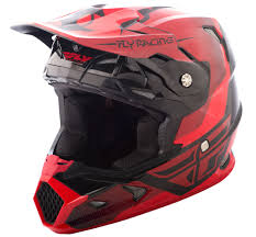 fly motocross gear toxin red black helmet fly racing motocross mtb bmx