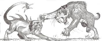 saber tooth tiger vs t rex