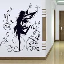 popular elf wall murals buy cheap elf wall murals lots from china 60 90cm high quality black elves flying fairy removable wall stickers parlor kids bedroom home