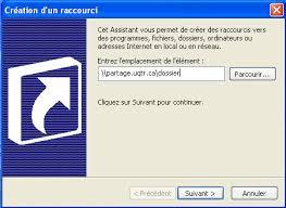 raccourci bureau windows 7 dossiers partagés création d un raccourci sur le bureau str