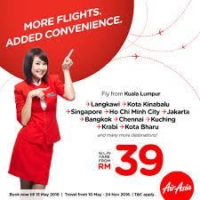 airasia singapore promo airasia rm39 flight tickets promotion may 2016