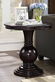 Cherry Wood Side Table Amazon Com Dark Cherry Pedestal Side Table Kitchen U0026 Dining