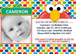 personalized sesame street birthday invitations addnow