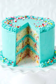 frosted funfetti layer cake love olive oil