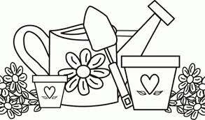 gardening coloring pages download print free