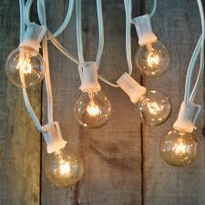 outdoor string lights white wire outdoor designs