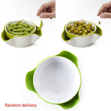 new creative modern stylish double dish snack bowl green design