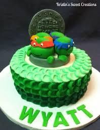 ninja turtle baby shower cake