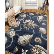Brown And Blue Area Rug by Coastal Area Rugs Rugs The Home Depot