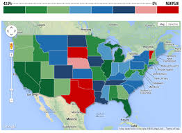 heat map us states heat map home prices reaches the highest in five us states in may