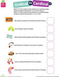 know all about numbers ordinal or cardinal worksheet