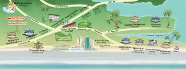 Florida Beach Map by Panama City Beach Map Guide Spots In Panama City Beach