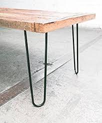 industrial hairpin leg desk 16 hairpin legs satin black industrial strength mid century