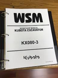 kubota kx080 3 excavator workshop service repair manual binder