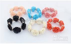 rose bead bracelet images 2018 women rose beads bracelets jewelry bohemia resin flowers jpg