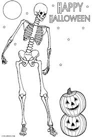 printable skeleton coloring pages kids cool2bkids