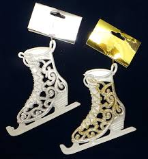 joblot of 80 madame posh glitter ice skate christmas decorations 41238
