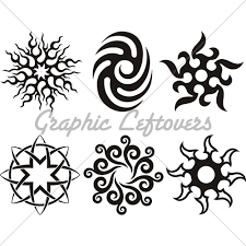 symbolic celtic sun tribal silhouette tattooooos