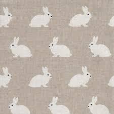 Natural Linen Curtain Fabric Natural Linen Curtain Interiors Fabric Ivory Rabbits On Linen