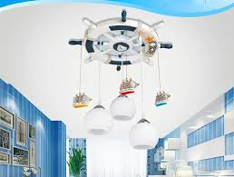 discount rudder ceiling lamp pirate boat pendant lamps light