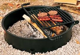Cooking Over Fire Pit Grill - firerings commercial outdoor park bbq pits