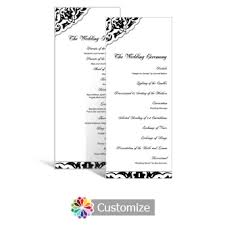 tea length wedding programs custom color wedding reception programs