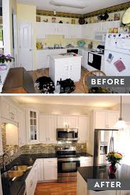 Before And After White Kitchen Cabinets Decorating Dear Lillie Kitchen Makeover With Electric Stove And