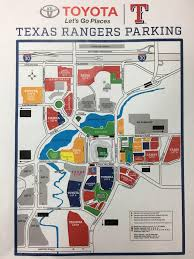 Tcu Parking Map Parking At A Rangers Game This Season Pay With Your Phone Or A