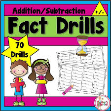 and subtraction fact drills