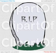 royalty free rf clipart illustration of a stone rip tombstone in