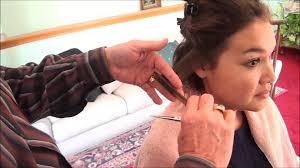 fixing bad angled bob haircut how to fix a bad haircut morrocco method youtube