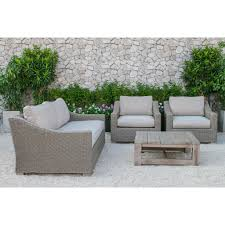 darby home co mound outdoor polyester 4 piece deep seating group