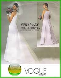 wedding dress pattern vogue 2118 vera wang wedding bridal dress patterns