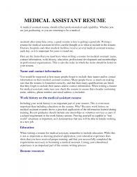 Summary For Medical Assistant Resume Cover Letter Medical Assistant Resume Format Medical
