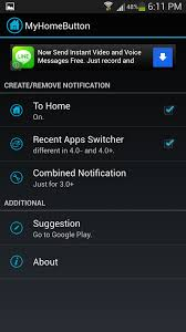 Android Home Home Button Shortcut Recent Apps Task List Virtual Key For