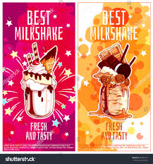 giant cocktail two vertical orientation flyers milkshakes best stock vector